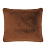 Essenza sierkussen Furry leather brown