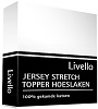 Livello Topper jersey hoeslaken wit