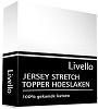 Livello Topper jersey hoeslaken wit